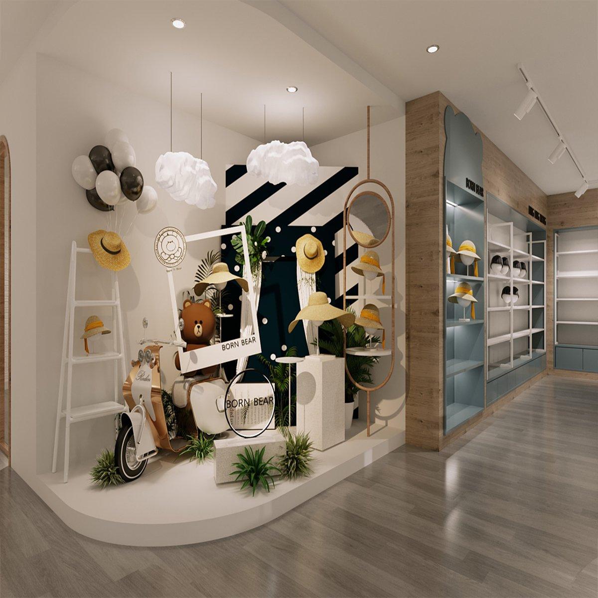 Hat Display Store Furniture Fashion Hats Retail Shop Design