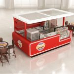 red food stand