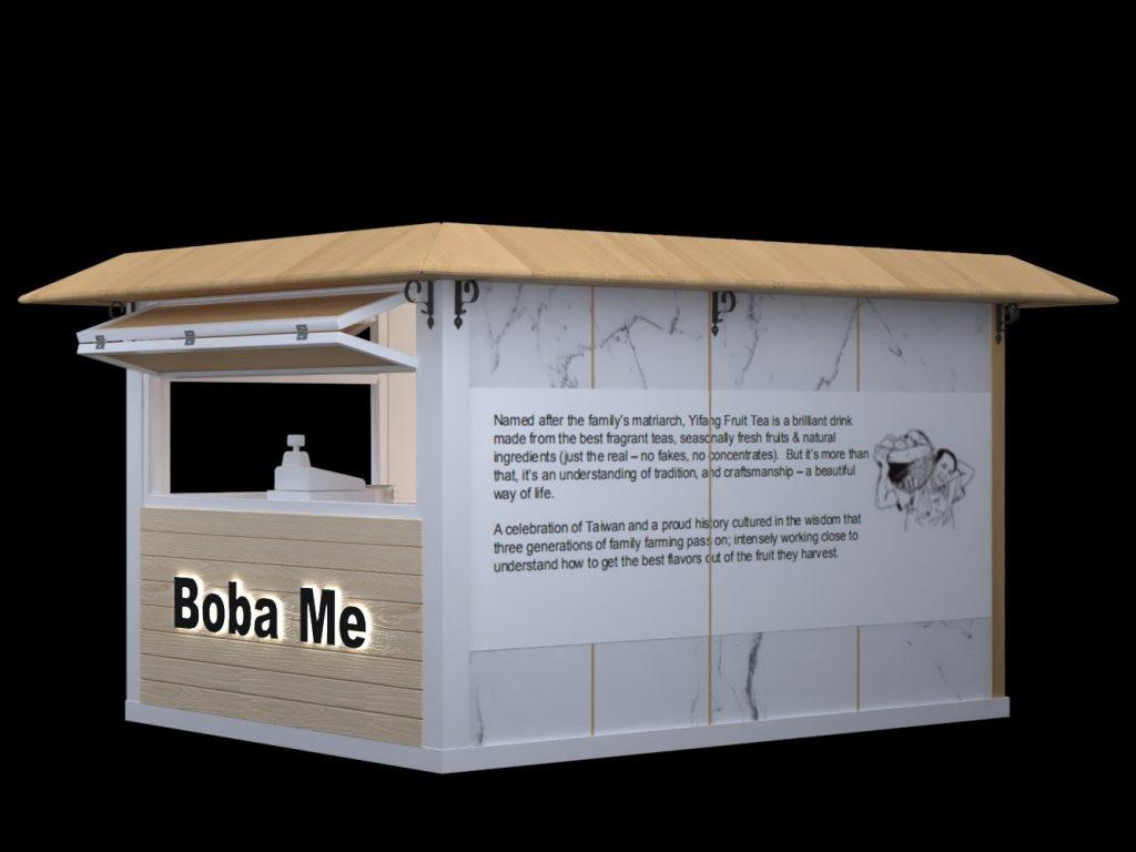 bubble tea booth