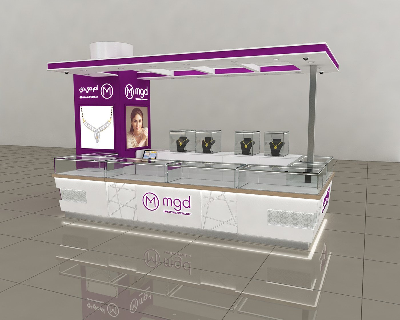 Jewelry Kiosk Best Display Counters Design Cases For Sale
