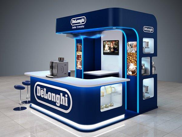 coffee machine booth