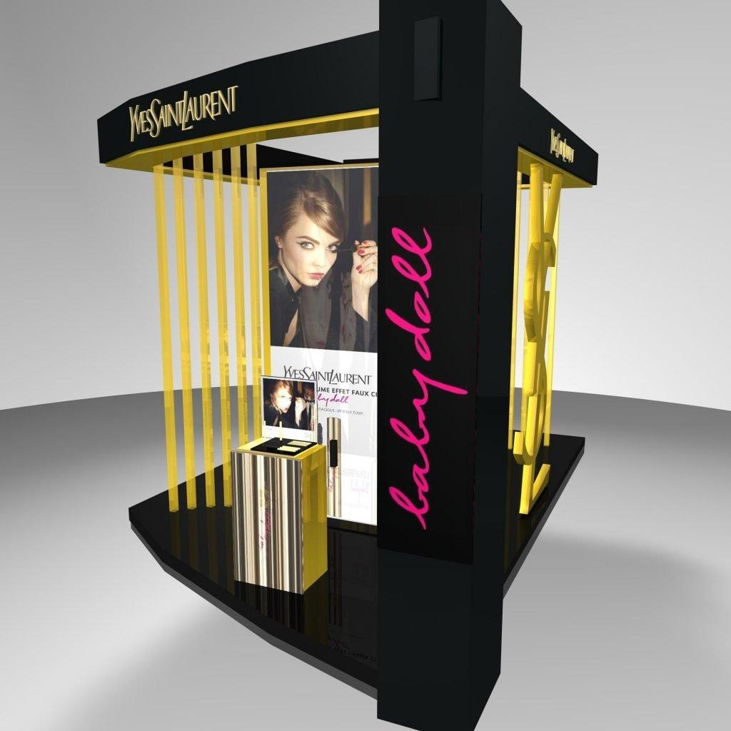 makeup booth