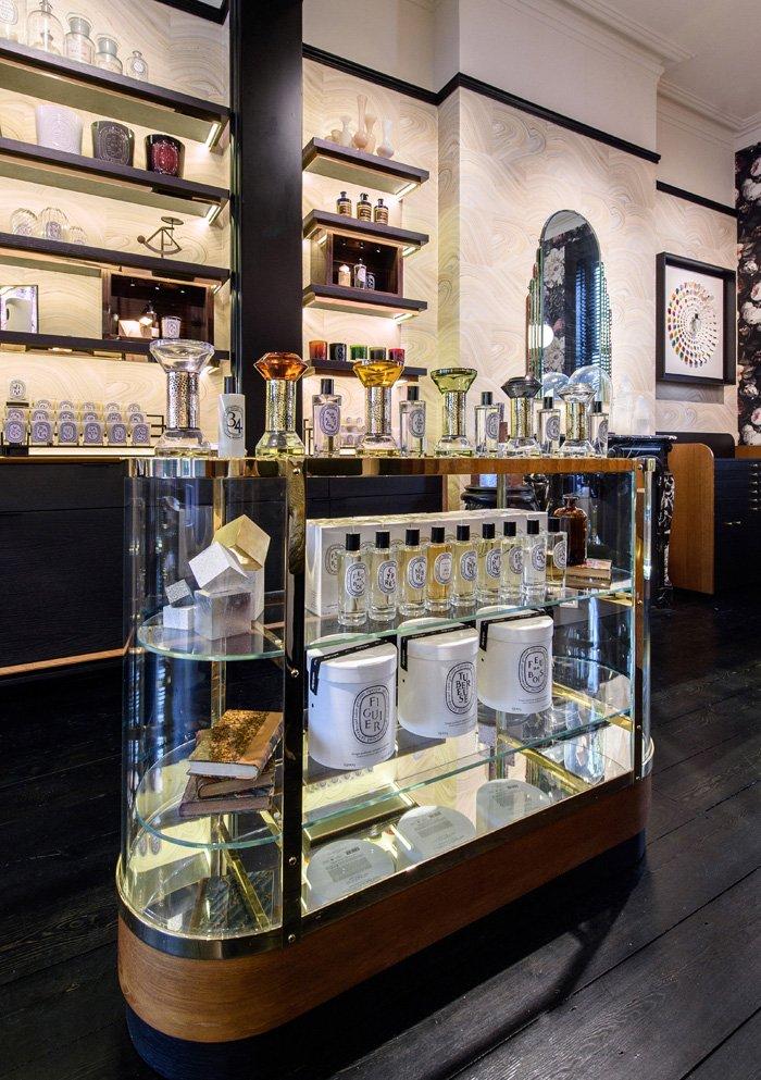 perfume showcase