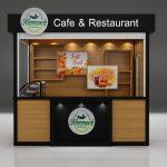 outdoor cafe kiosk