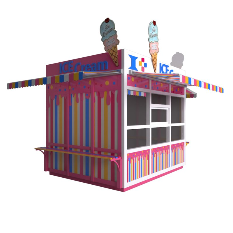 ice cream outdoor kiosk