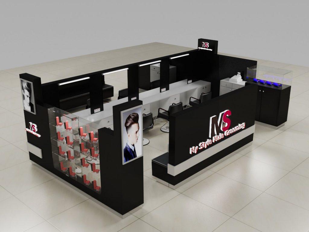 hair cutting kiosk