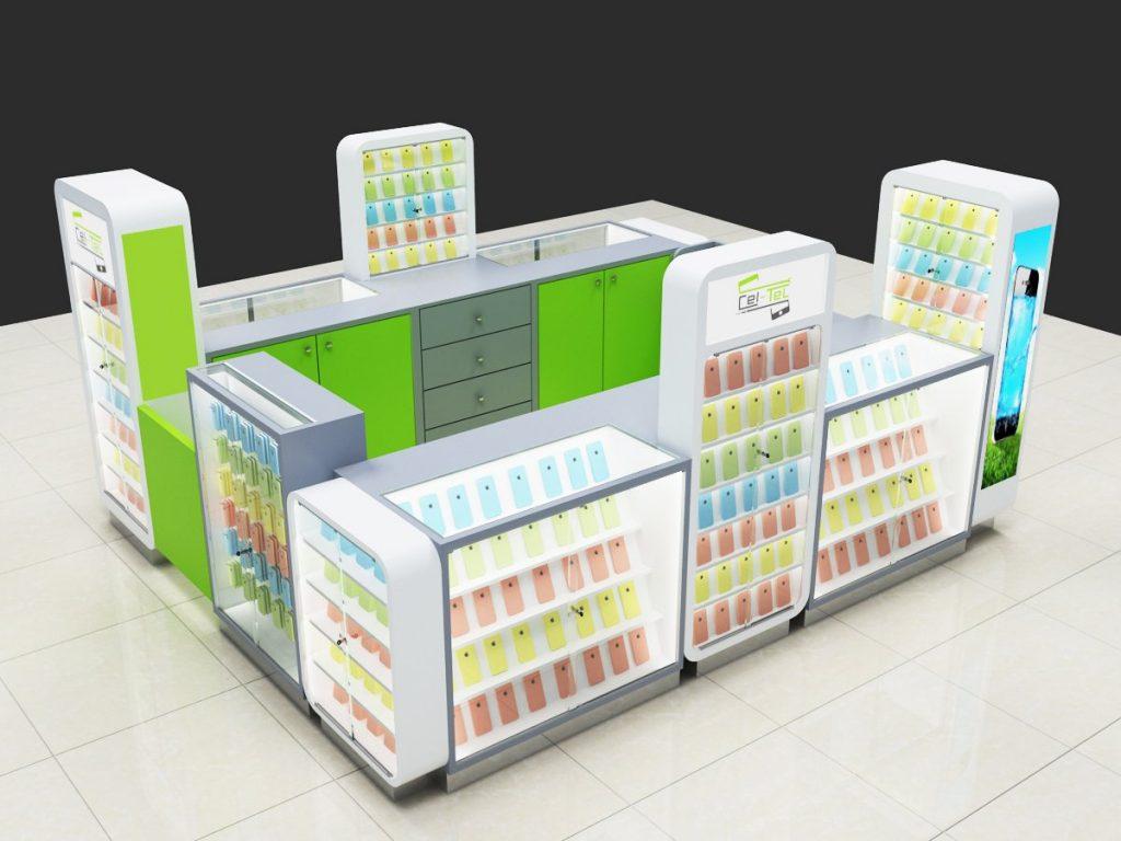 mobile phone display showcase