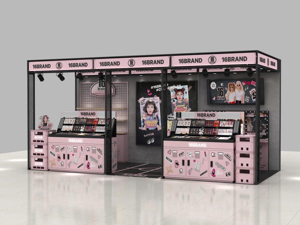 cosmetics kiosk