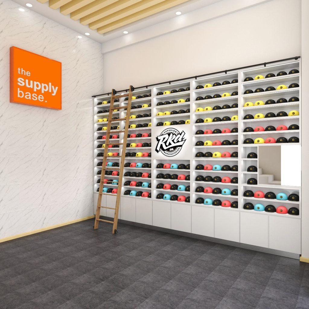 hat shelves