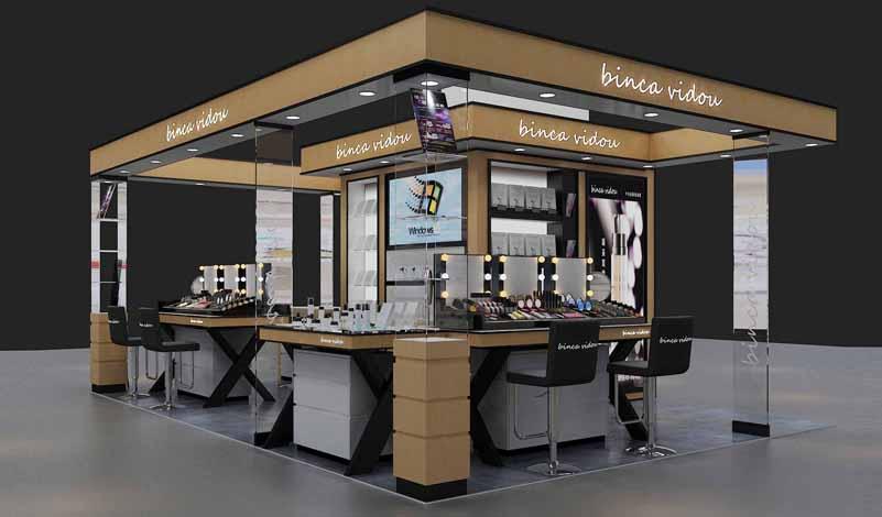 cosmetics booth