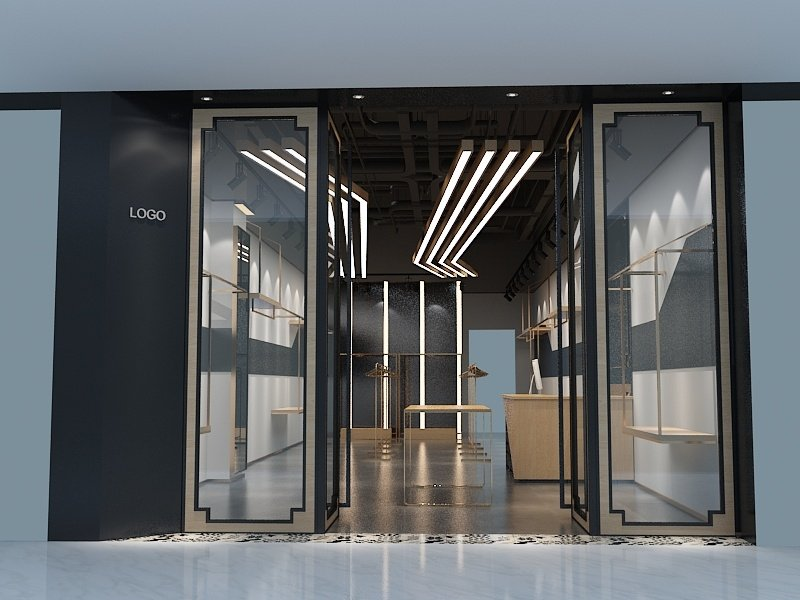 men clothes store design