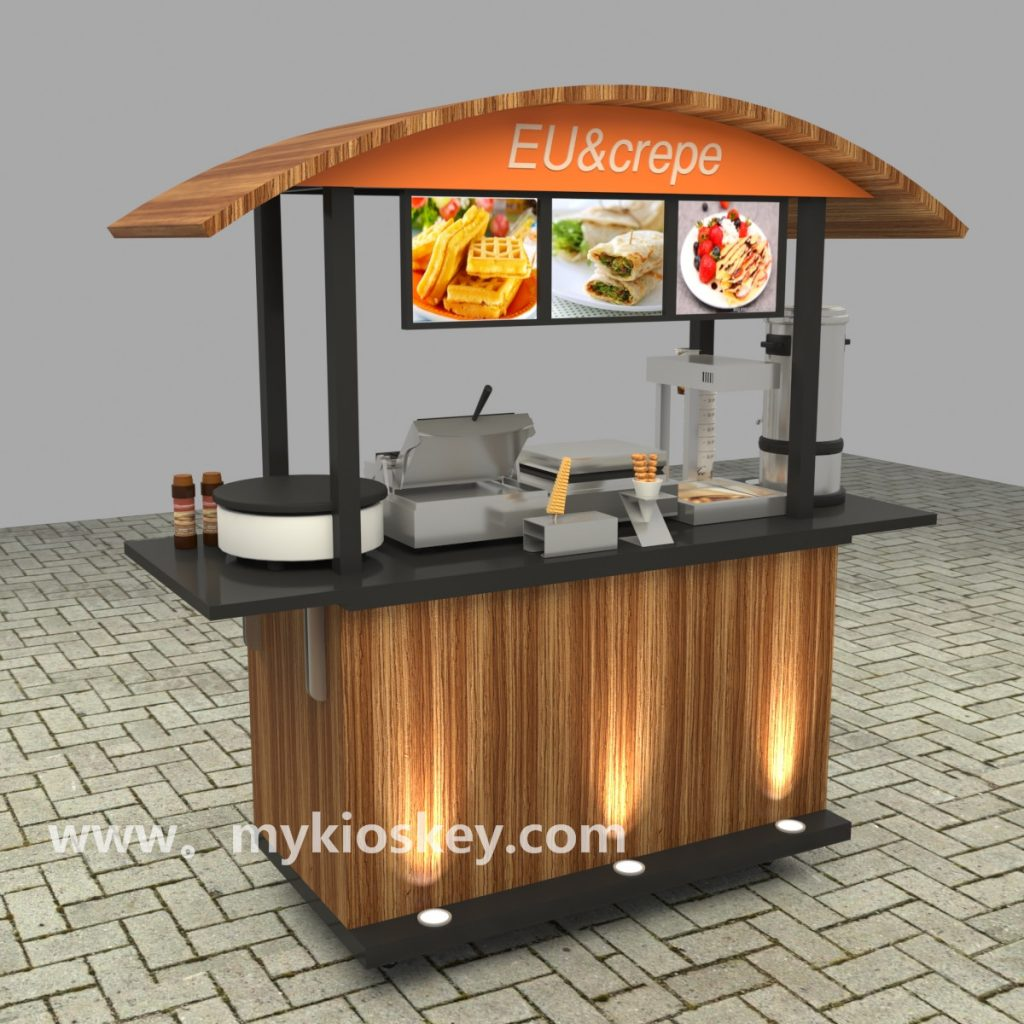 Share the benefits for outdoor mobile food cart kiosk