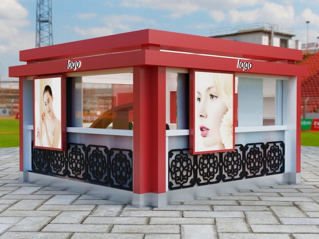 outdoor eyebrow kiosk
