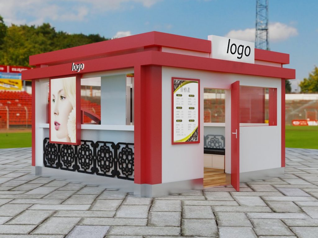 street eyelash kiosk