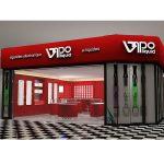 Customized Electronic Cigarette fixture Shops Interior Design