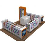 Latest 3D Design Phone Accessories Mobile Kiosk Retail Design
