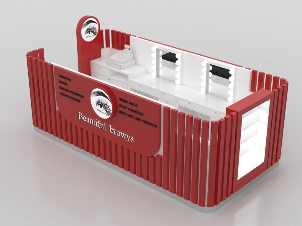 Eyelash extension kiosk