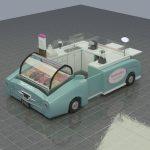 Hot sale sweet food kiosk cart juice bar kiosk for sale