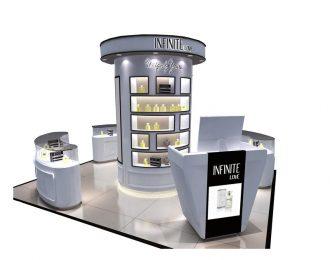 High-end shopping mall perfume display kiosk