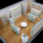 Modern Design Pharmacy Furniture Rack Pharmacy Shelving Design