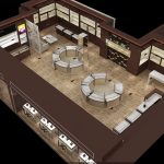 Luxury design glass jewelry store display furniture for shop decoration