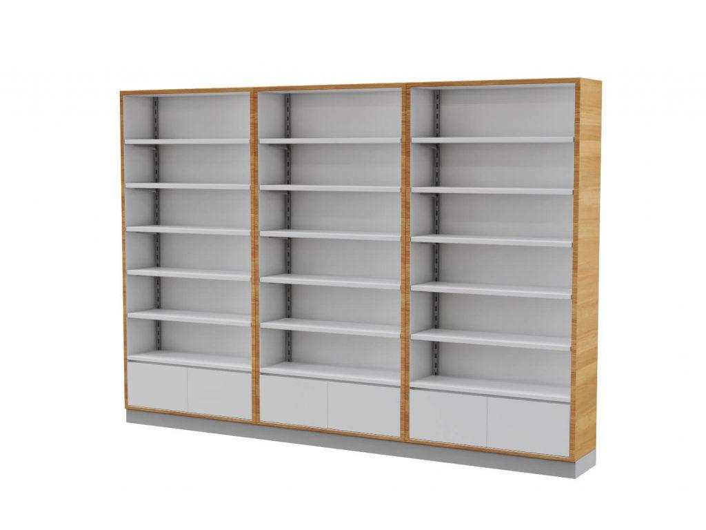 pharmacy wall shelf