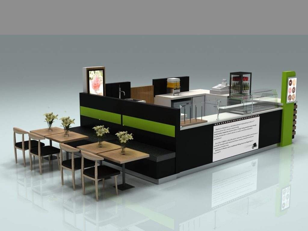 Newest Mall Coffee Kiosk Design Commercial Coffee Counters Furniture