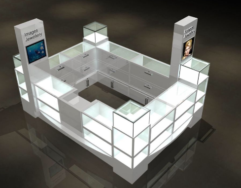 The design of the jewelry kiosk
