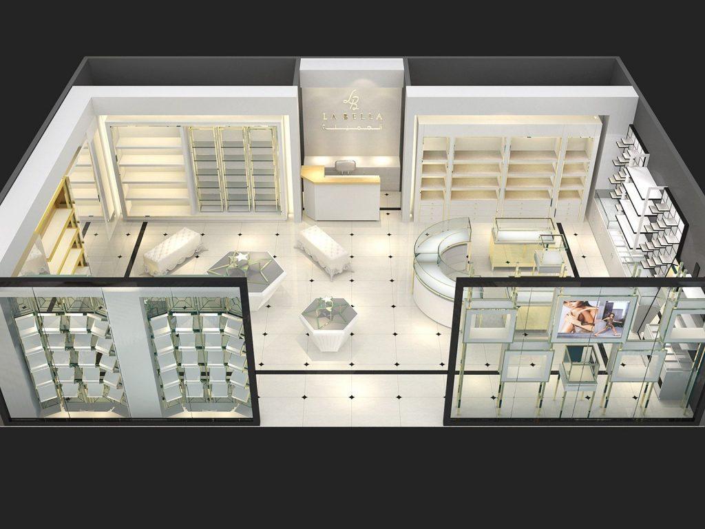 High-end jewellery shop display cabinet custom jewelry showcase furnitures