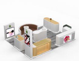 cosmetic kiosk in mall
