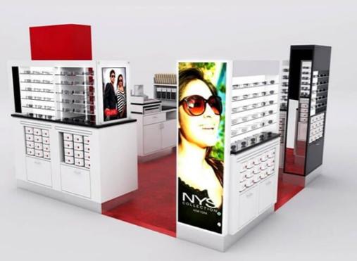 The introduction of the sunglass kiosk