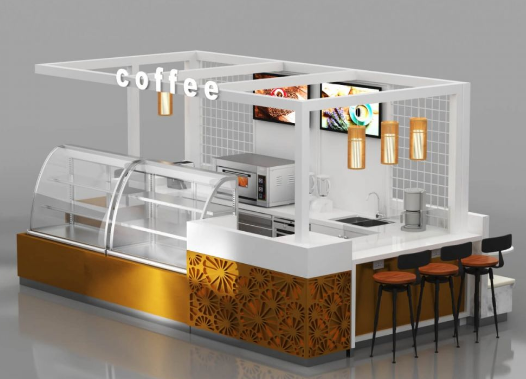 The layout of the bakey kiosk