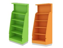 candy store wall shelves