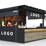 coffee kiosk in mall