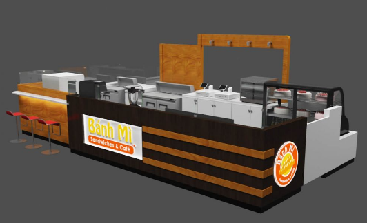 To design one coffee kiosk