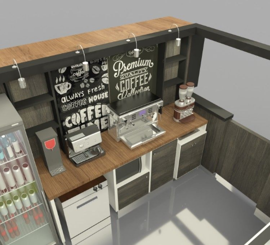 Description of the coffee kiosk