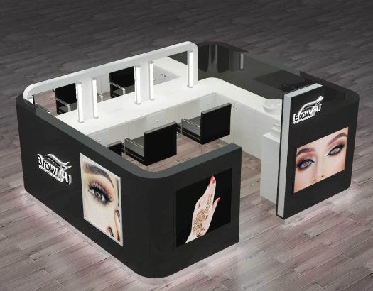 The details of the eyebrow kiosk