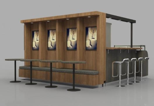 How to make a design of kiosk