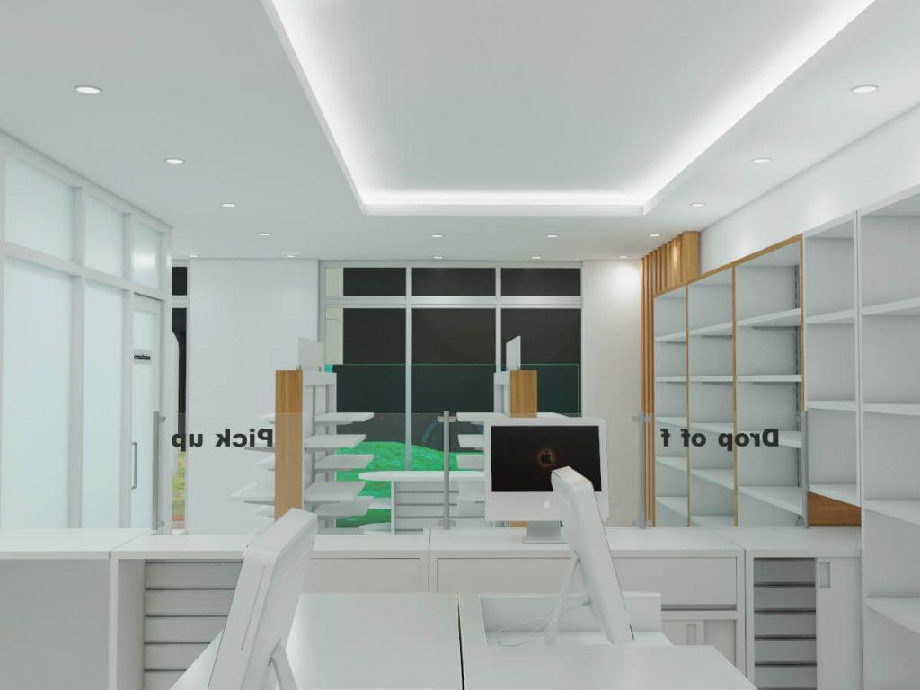 pharmacy retail counter