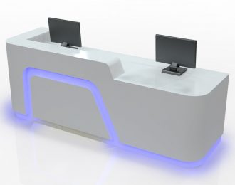 Simple style office reception counter hospital information desk for sale