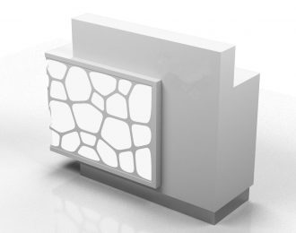 Luminescent stone reception desk customize small size counter