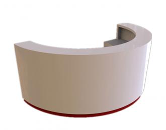 C shape curve reception counter simple front desk design