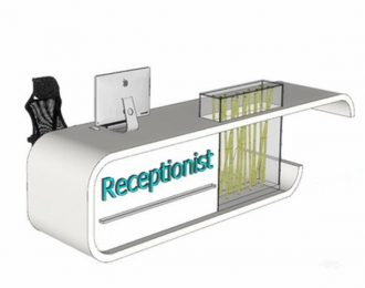 Modern style reception counter hotel front desk for sale