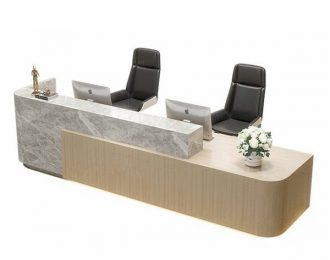 Hotel reception counter simple model front desk for sale