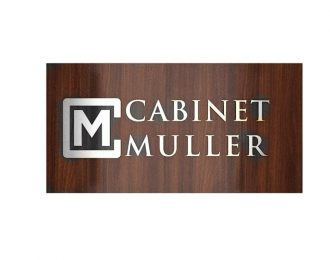 Stainless Steel Signage Letters with Walnut Surface Background