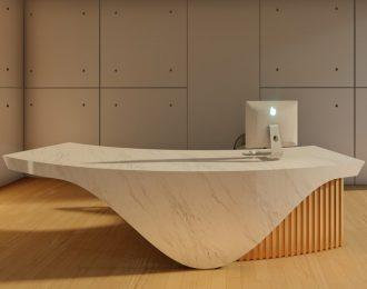 Unique reception counter design company front desk