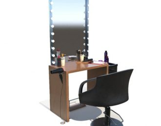 Nice Design Barber Shop Styling Station with Mirror